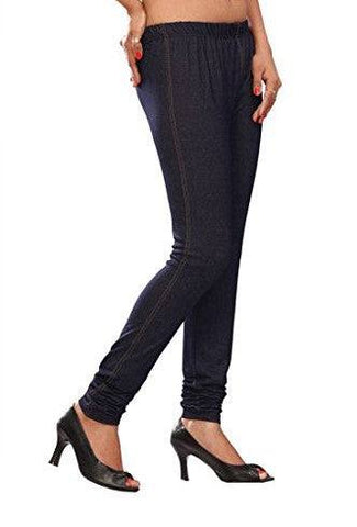 Leggings - Churidar - Blue Denim-www.riafashions.com
