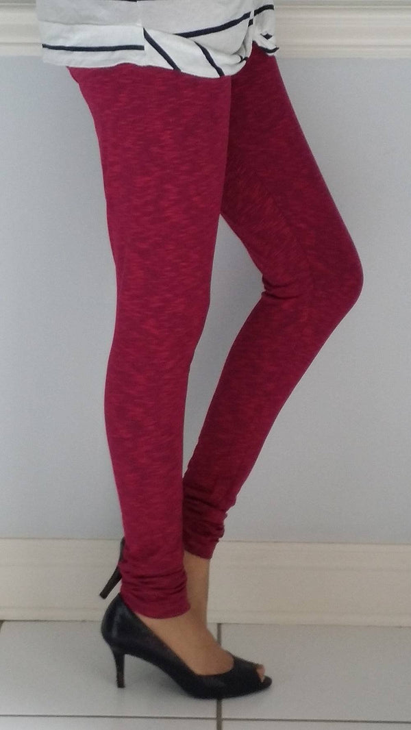 Leggings - Churidar - Navy Fuschia-www.riafashions.com
