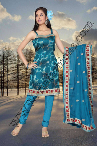 Abstract desined Salwar Kameez-www.riafashions.com