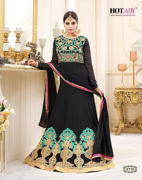Embroidered Georgette Anarkali-www.riafashions.com
