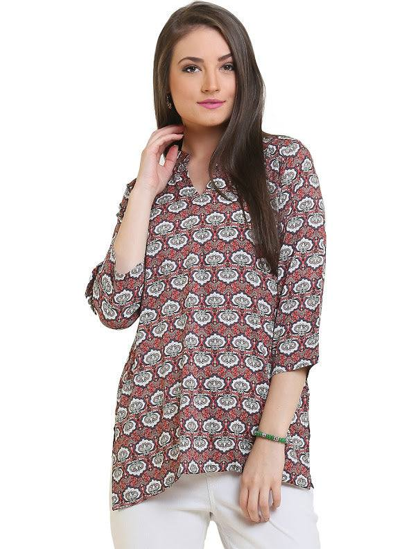 Indian Cotton Tunic / Kurti - Koolz 2991-www.riafashions.com