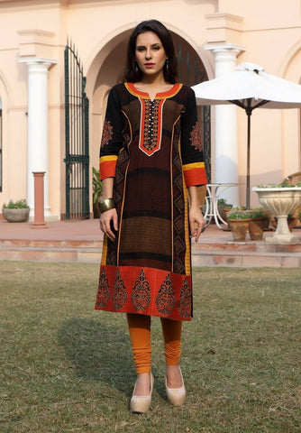 Indian Cotton Kurti-www.riafashions.com