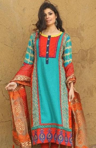 Multi-color Cotton blend kurti-www.riafashions.com