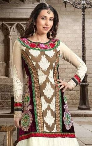 Designer suit with embroidery-www.riafashions.com
