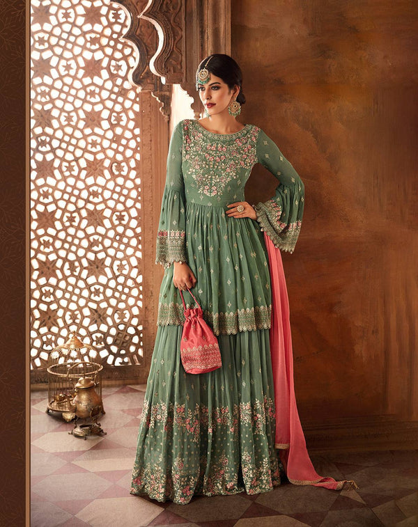 Turquoise Make to Order Salwar Suit
