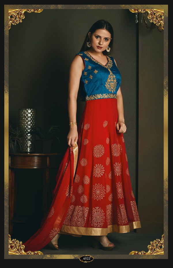 Embroidered Anarkali Salwar Set-www.riafashions.com