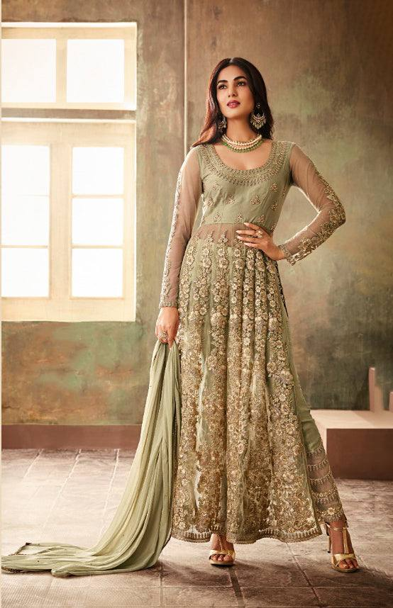 Cream Make to Order Salwar Suit