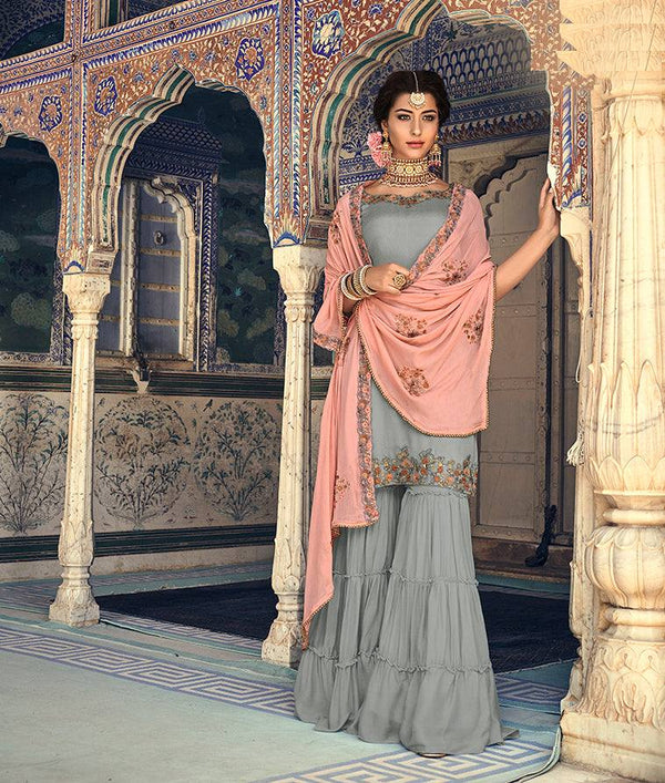 Grey Colour Make to Order Salwar Suit