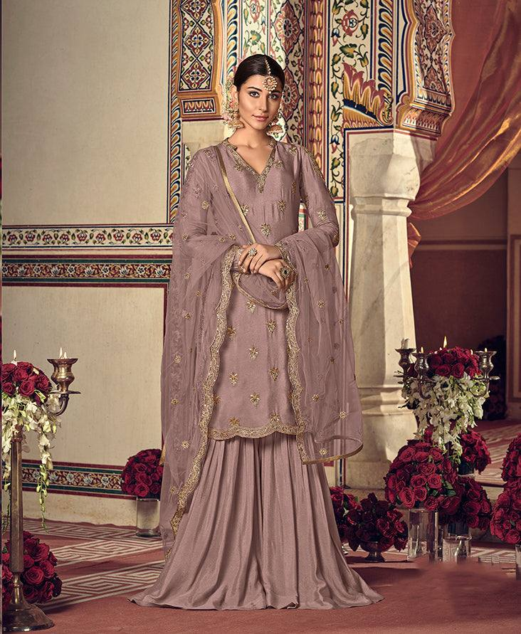 Light Mauve Colour Make to Order Salwar Suit