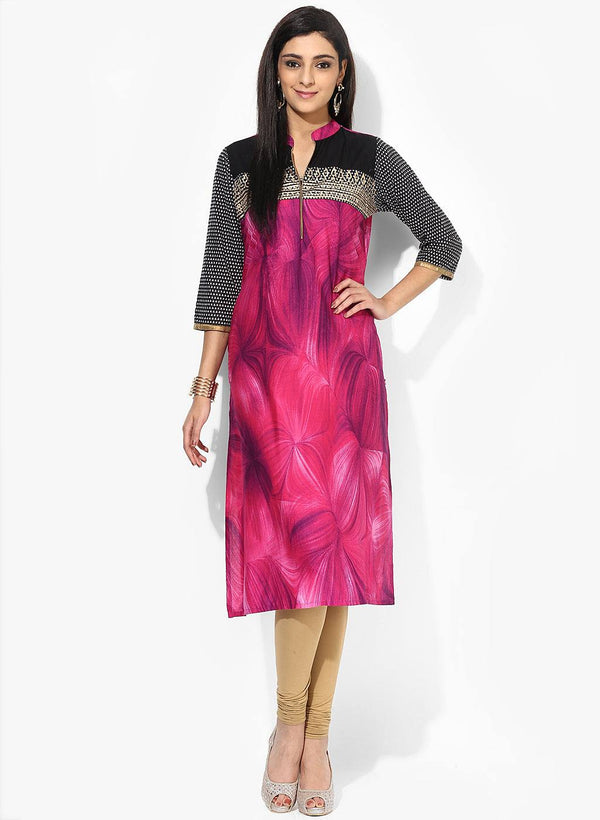 Pink Cotton Tunic-www.riafashions.com
