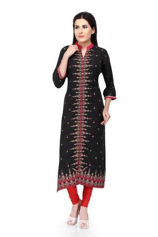 Sabhyata Black Cotton with Zari Item