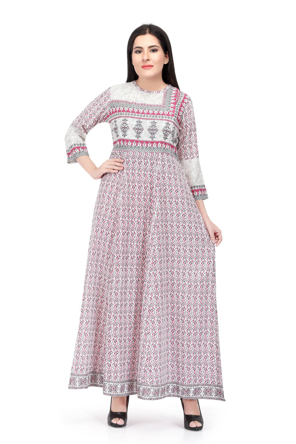 Readymade Sabhyata Light Pink Cotton Printed Kurti