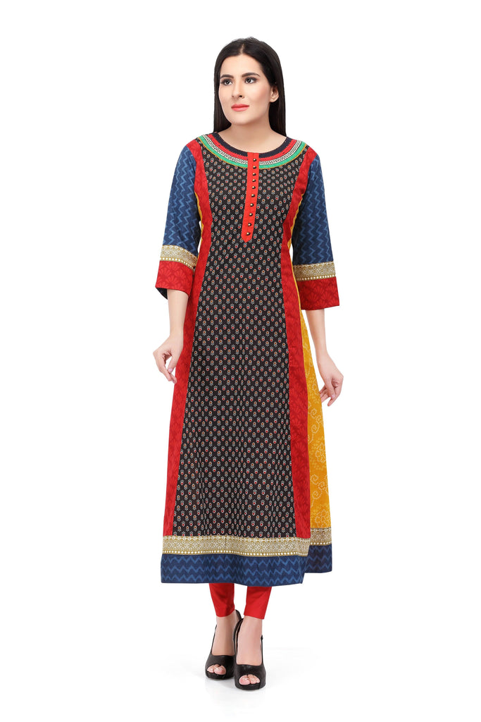 Readymade Sabhyata Multicoloured Cotton Printed Kurti