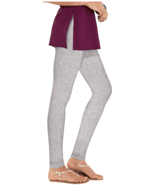 Leggings - Churidar - Grey-www.riafashions.com