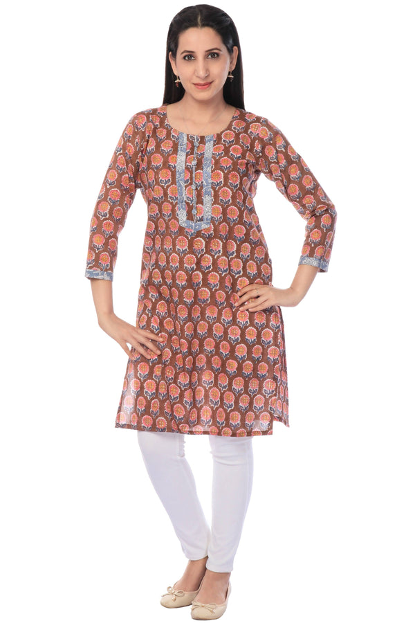 Printed Cotton Kurta-www.riafashions.com