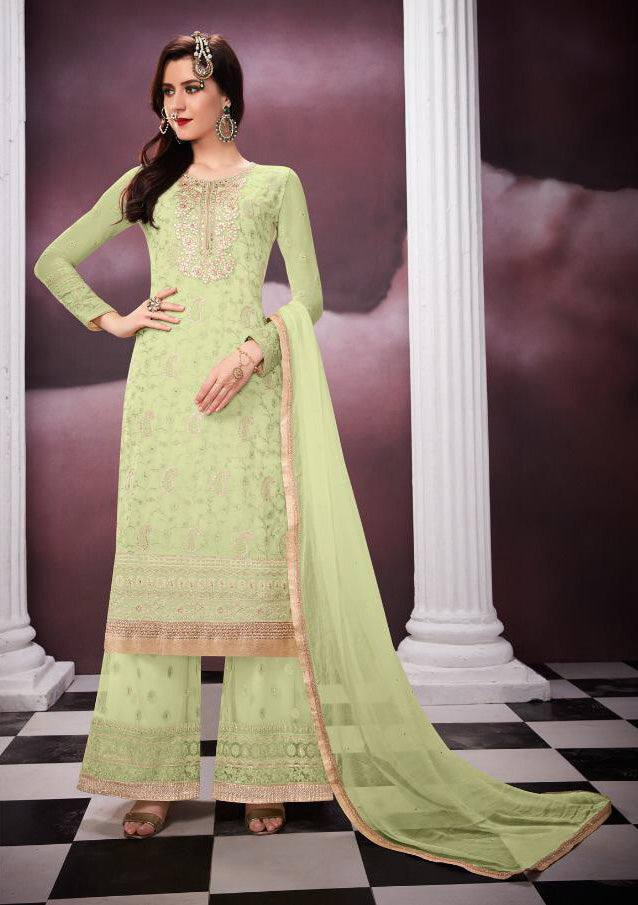 Light Green Colour Make to Order Salwar Suit