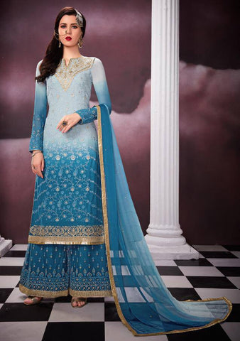 Blue Colour Make to Order Salwar Suit