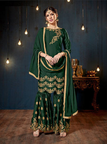 Green Colour Make to Order Salwar Suit