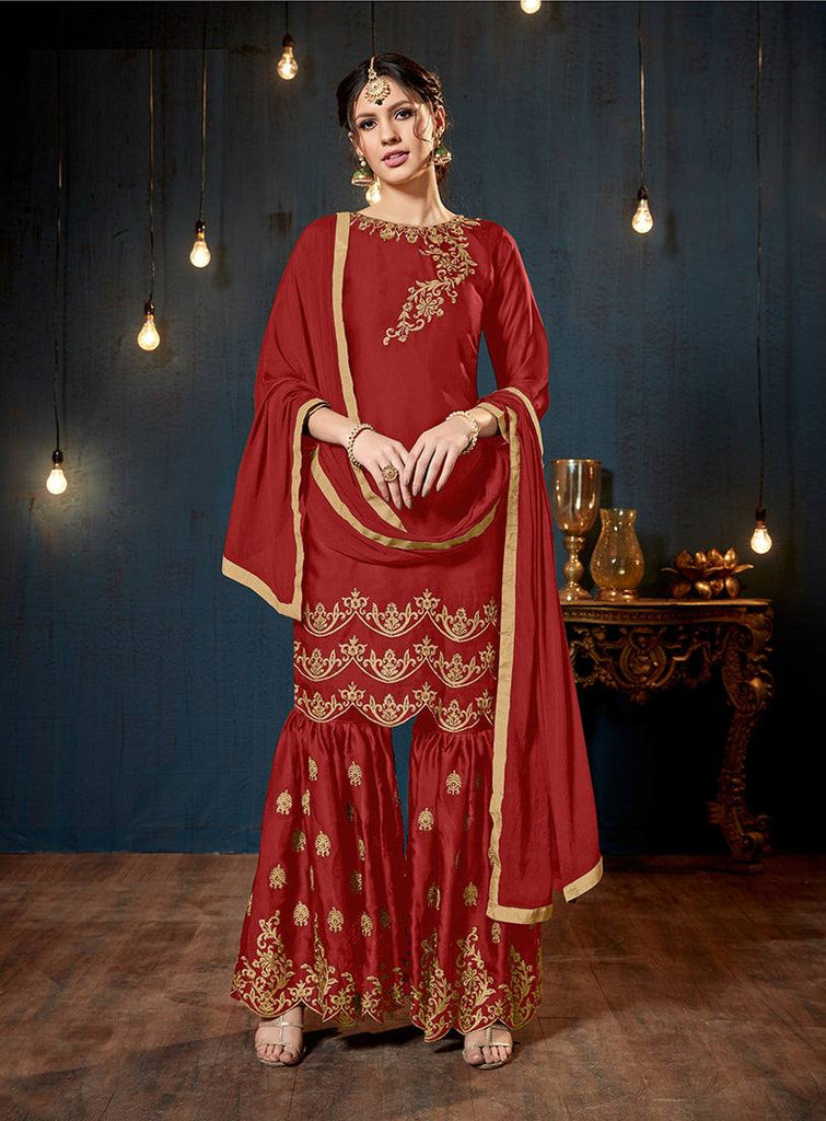 Red Colour Make to Order Salwar Suit