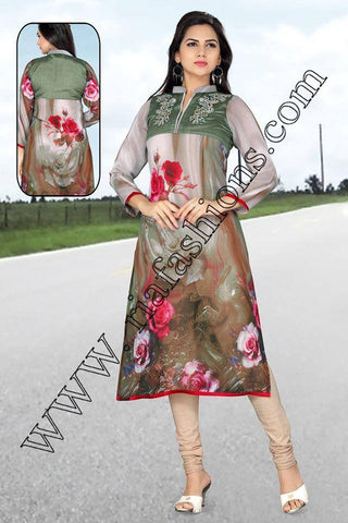 Beautiful Chiffon Long Tunic-www.riafashions.com
