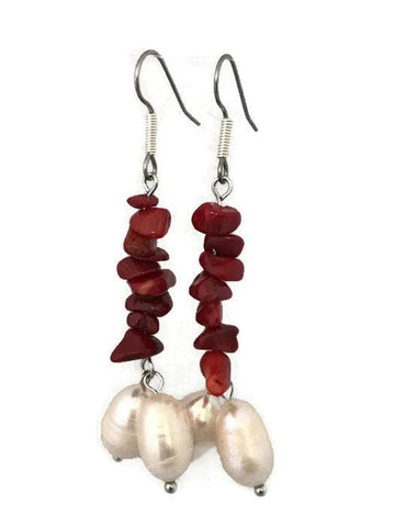 Pearl Drop Earrings-www.riafashions.com