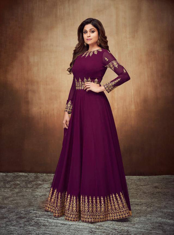 Purple Colour Make to Order Salwar Suit