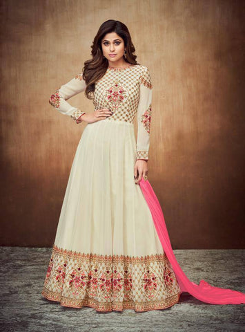 Off White Colour Make to Order Salwar Suit