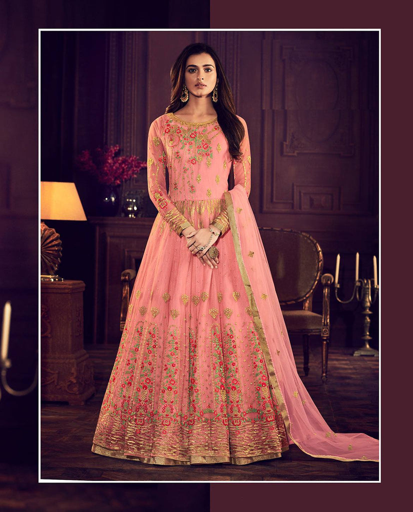 Pink Colour Make to Order Salwar Suit