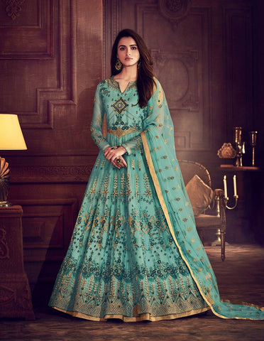 Aqua Colour Make to Order Salwar Suit