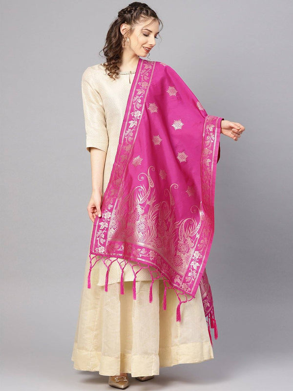 Raani Colour Designer Banarasi Silk Dupatta With Zari Work