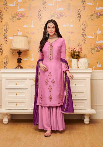 Pink Colored Designer Salwar Suit