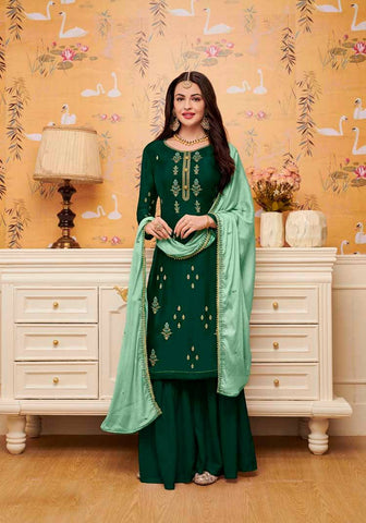 Olive Colored Designer Salwar Suit