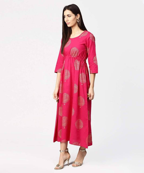 Ambrosial Pink Colored Cotton Kurti