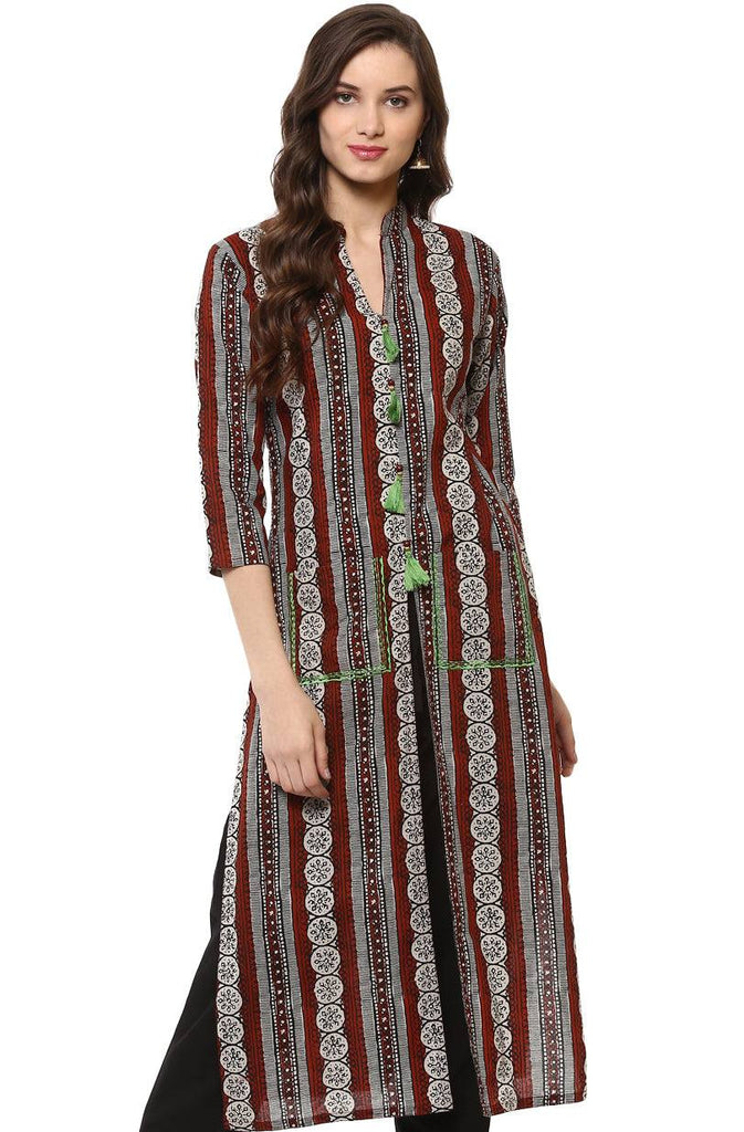 Long cotton kurta-www.riafashions.com