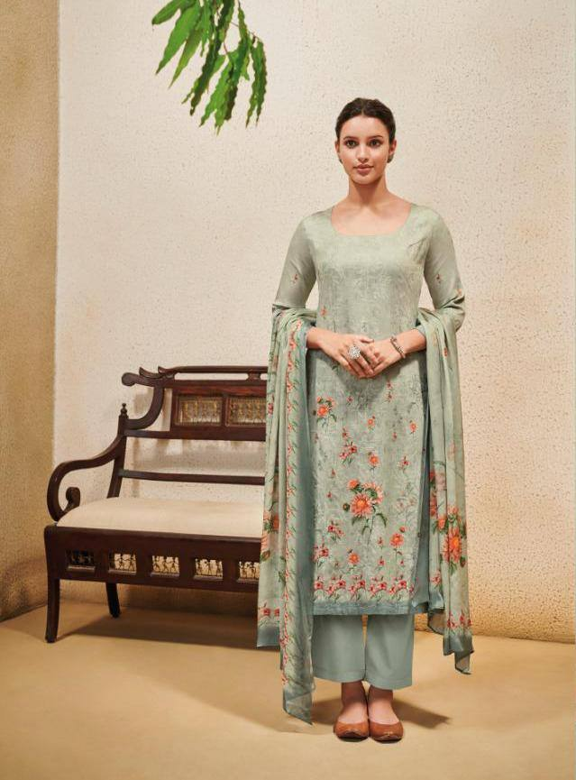 Cloud Grey Colour Make to Order Salwar Suit Set