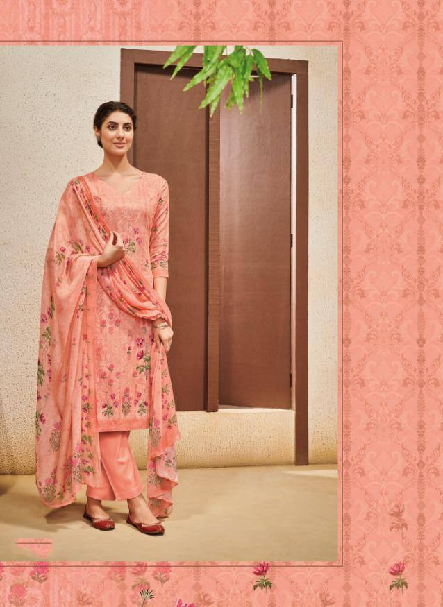 Peach Colour Make to Order Salwar Suit Set