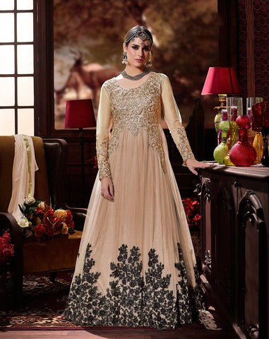 Beige Embroidered Suit-www.riafashions.com