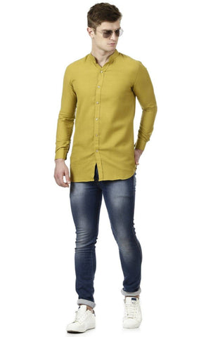 Yellow Linen Short Kurta
