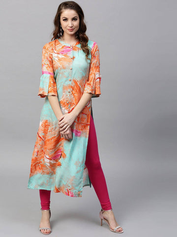 Multicolour Printed Cotton Suit-www.riafashions.com