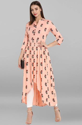 Light Pink Colour Make To Order Kurti/Tunic