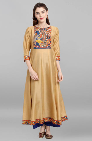 Cream Colour Make To Order Kurti/Tunic