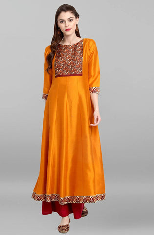 Yellow Colour Make To Order Kurti/Tunic