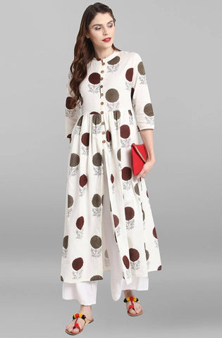 White Colour Make To Order Kurti/Tunic