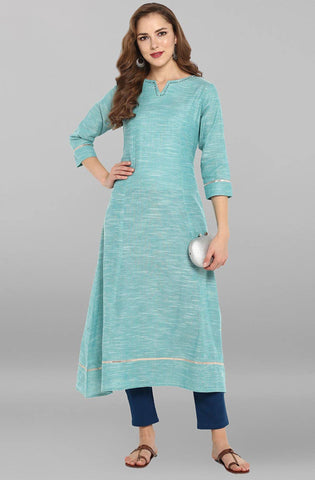 Aqua Printed Colour Make To Order Kurti/Tunic