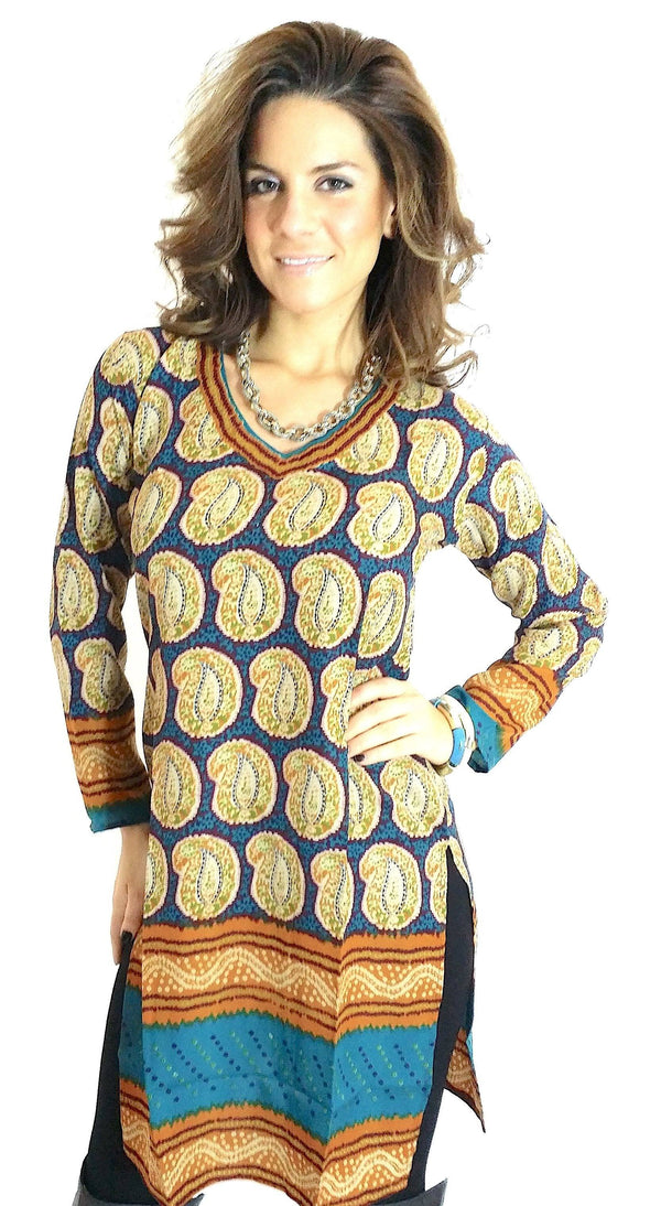 Readymade Polyester Printed Tunic Top