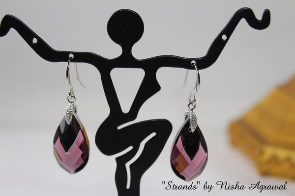 Swarovski Crystal Pear Shaped Earrings