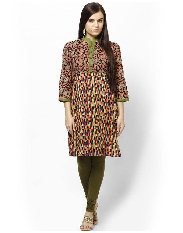 Readymade Cotton Geometric designed Tunic