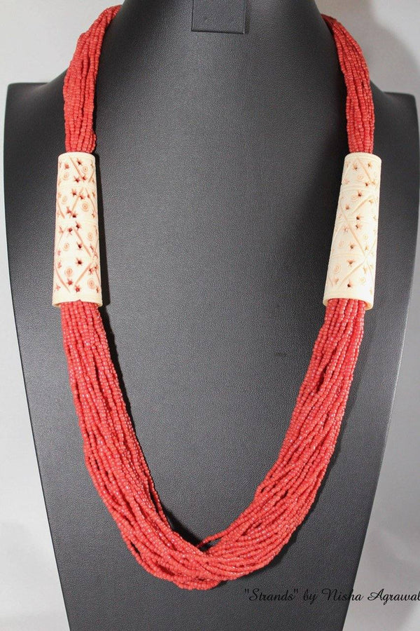 Seed beads multi strand Necklace