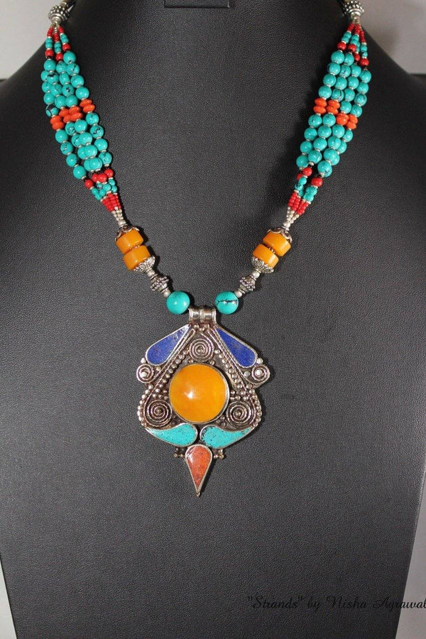 Necklace with Tibetan style pendant