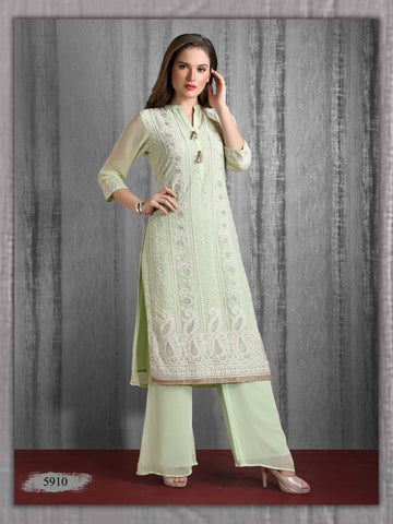 Light Green Georgette Kurta